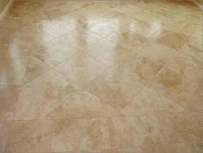 how to make travertine floors shine