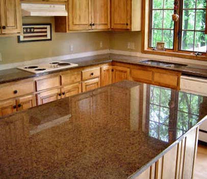 Tan Brown Granite Kitchen